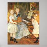 Filles de Catulle Mendes par Pierre Renoir Poster