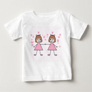 Filles jumelles t-shirt pour bébé
