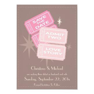 Film etikettiert Save the Date Karte (Brown) 12,7 X 17,8 Cm Einladungskarte
