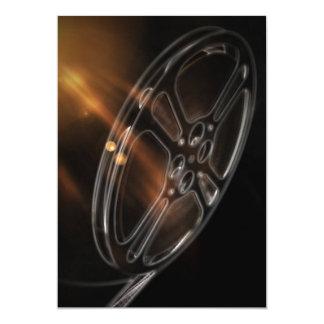 Film hebt Rollen hervor 12,7 X 17,8 Cm Einladungskarte