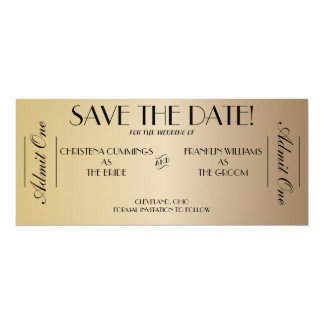 Film-Karten-Save the Date Mitteilung (Gold2) Karte