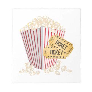 Film-Popcorn Notizblock
