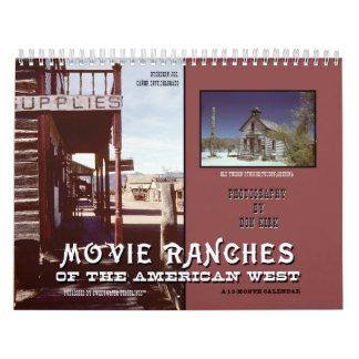 Film-Ranchs des amerikanischen Westens Abreißkalender