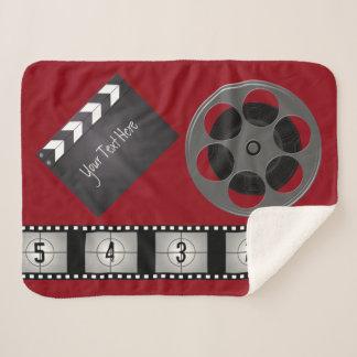 Film-Streifen-Film-Spule Clapperboard Sherpadecke
