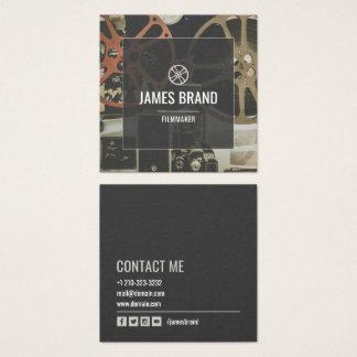 Film-Video-Filmemacher Quadratische Visitenkarte