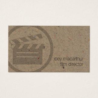 Filmregisseur Clapperboard Ikonen-Film-Fotografie Visitenkarte
