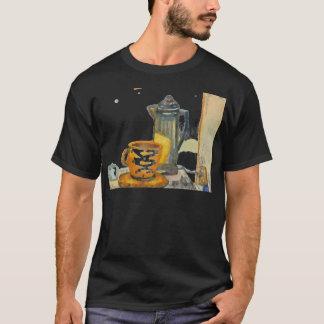 Filtration irgendeines Kaffee-Schwarz-T-Shirts T-Shirt