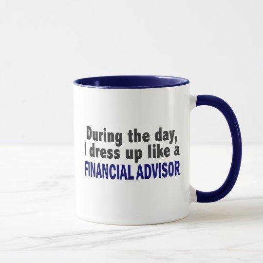 Finanzberater während des Tages Tasse