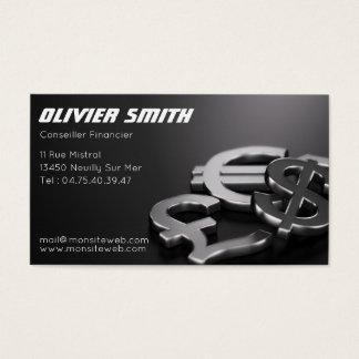 Finanzieller Berater Visitenkarte