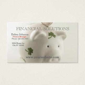 Finanzlösungs-glückliche Piggy Bank Visitenkarte