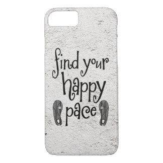 Finden Sie Ihr glückliches Schritt-Zitat iPhone 8/7 Hülle