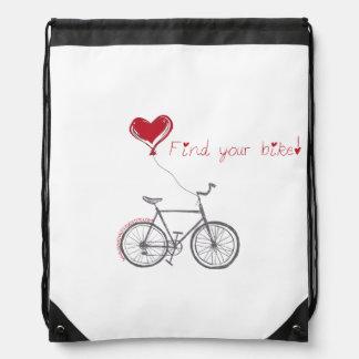 Finden Sie Ihre Fahrrad Drawstringtasche Sportbeutel