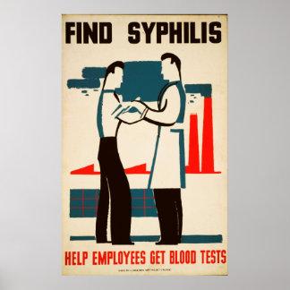 Finden Sie Syphilis-Vintages Gesundheits-Plakat Poster