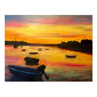 Findhorn Sonnenuntergang Postkarte