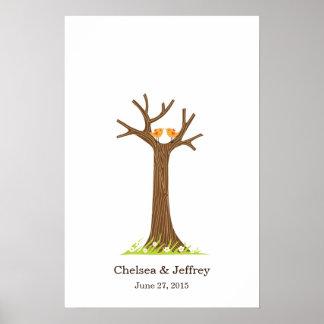 Fingerabdruck-Baum-(süßes) Plakat