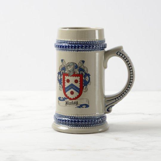 Finlay-Wappen Stein - Familienwappen Bierglas