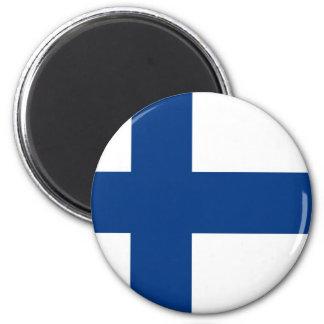 Finnische Flagge auf Magneten Runder Magnet 5,1 Cm