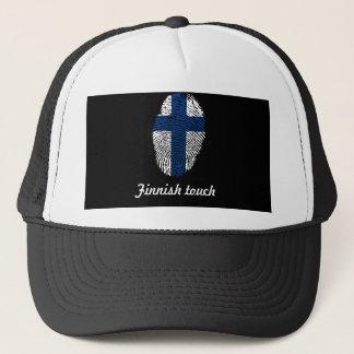 Finnische Touchfingerabdruckflagge Truckerkappe