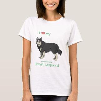 Finnish Lapphund black and white shirt -lapinkoira