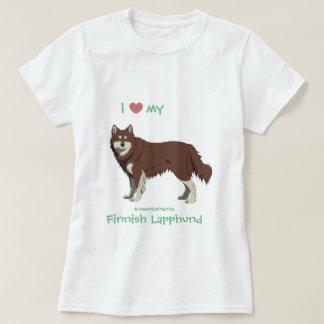 Finnish Lapphund brown and white shirt -lapinkoira