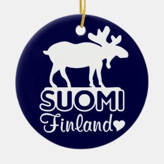 Finnland-Elchverzierung Rundes Keramik Ornament