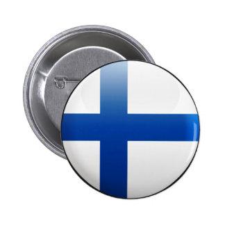 Finnland-Flagge Runder Button 5,1 Cm