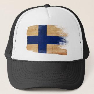Finnland-Flaggen-Fernlastfahrer-Hut Truckerkappe