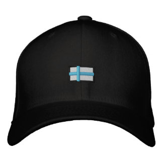 Finnland (schwarzes Cap_ Bestickte Baseballkappe