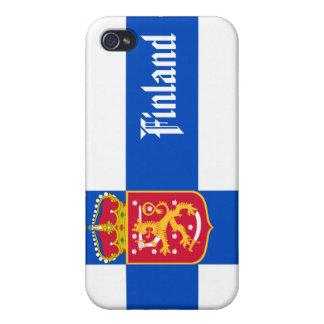 Finnland-Staat Flagge iPhone 4/4S Hüllen