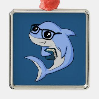 """Fintellectual"" Haifisch! Silbernes Ornament"