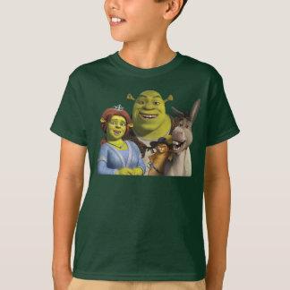 Fiona, Shrek, Mietze in den Stiefeln und Esel T-Shirt