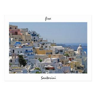 Fira, Santorini, Griechenland Postkarte