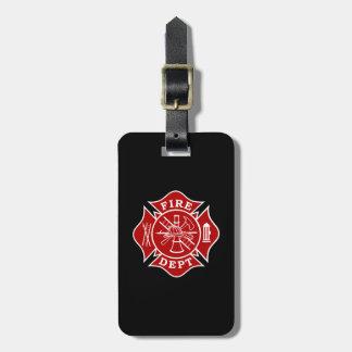 Fire Dept / Firefighter Maltese Cross Luggage Tag Gepäckanhänger
