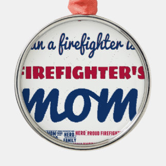 firefighter_mom rundes silberfarbenes ornament