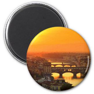 Firenze-Abend Runder Magnet 5,7 Cm