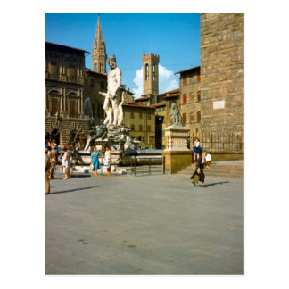 Firenze, Statue von David durch Michelangelo Postkarte