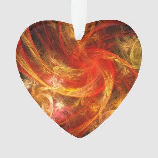 Firestorm-Nova-abstraktes Kunst-Acryl-Herz Ornament