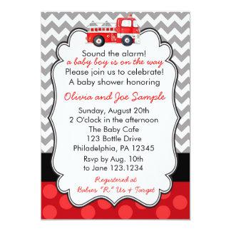 Firetruck-Babyparty-Einladung 12,7 X 17,8 Cm Einladungskarte
