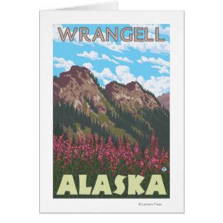 Fireweed u. Berge - Wrangell, Alaska Karte