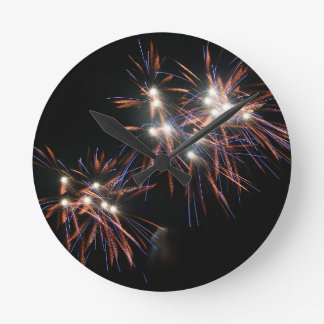 Fireworks Runde Wanduhr
