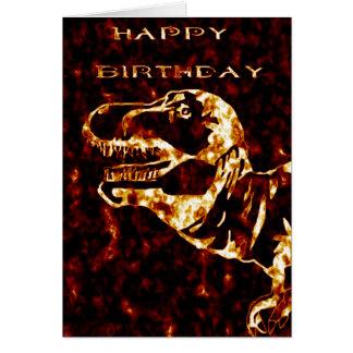 Firey Tyrannosaurus Rex Geburtstag Karte