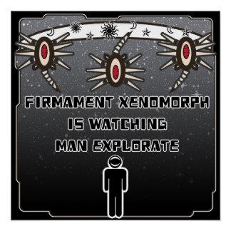 Firmament Xenomorph passt Mann Explorate auf Poster