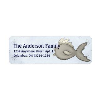 Fisch-arktische Frost-Tier-Adressen-Etiketten