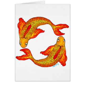 Fisch-Fisch-Tierkreis-Zeichen-Karte Karte