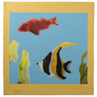 Fisch-Kunstschwimmen im Meer Serviette