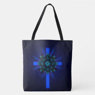 Fisch-Mandala und Kreuz Tasche