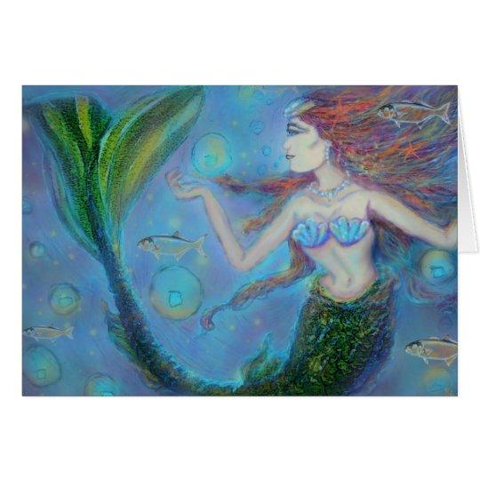 Fisch-Meerjungfrau-Geburtstags-Gruß-Karte Grußkarte
