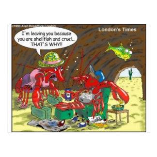 Fisch-Scheidungs-lustige Postkarte