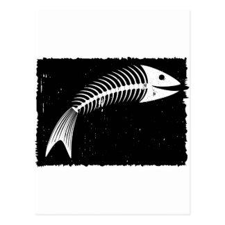 Fisch-Skelett Postkarten