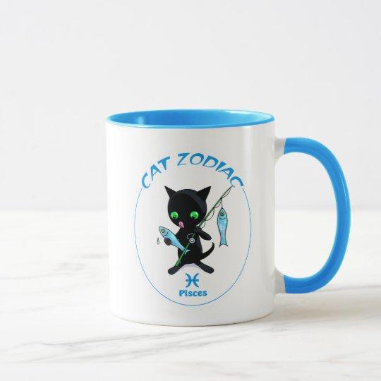 Fisch-Tierkreis-Katzen-Tasse Tasse